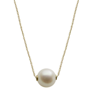 jcpenney.com | 10K Gold Cultured Freshwater Pearl Solitaire Necklace