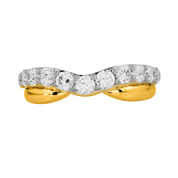 1 CT. T.W. Diamond 10K Yellow Gold Contoured Anniversary Band