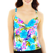 Maidenform Custom Lift Print Underwire Tankini Swim Top