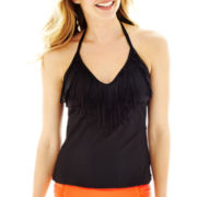a.n.a® Fringe Halterkini Swim Top