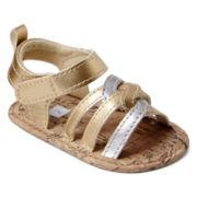 Carter's® Infant Girls Metallic Twist Sandals