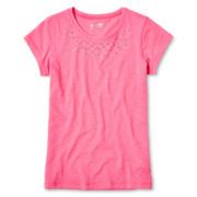 Arizona Studded Short-Sleeve Tee - Girls 6-16 and Plus
