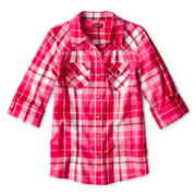 Arizona Woven Long-Sleeve Shirt - Girls 6-16 and Plus