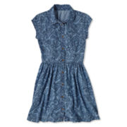 Arizona Denim Button-Front Shirtdress - Girls 6-16 and Plus