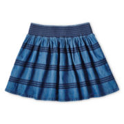 Arizona Smocked Denim Skirt - Girls 6-16 and Plus
