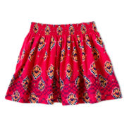 Arizona Smocked Print Voile Skirt - Girls 6-16 and Plus