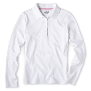 jcpenney.com | IZOD® Long-Sleeve Polo - Girls 7-18 and Plus