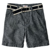 Joe Fresh™ Belted Linen-Blend Shorts - Boys 1t-5t