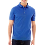 Claiborne® Fine-Striped Mercerized Polo