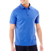 Claiborne® Wide-Striped Mercerized Polo