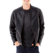 Claiborne® Faux-Leather Jacket