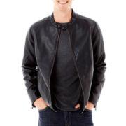 Claiborne® Faux-Leather Jacket