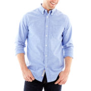 St. John's Bay® Long-Sleeve Slim-Fit Oxford Shirt