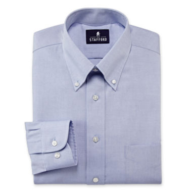jcpenney.com | Stafford® Travel Performance Pinpoint Oxford Dress Shirt