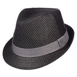 St. John's Bay® Toyo Fedora Hat w/ Houndstooth Band