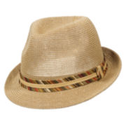 St. John's Bay® Knitted Fedora Hat w/ Paperbraid Band