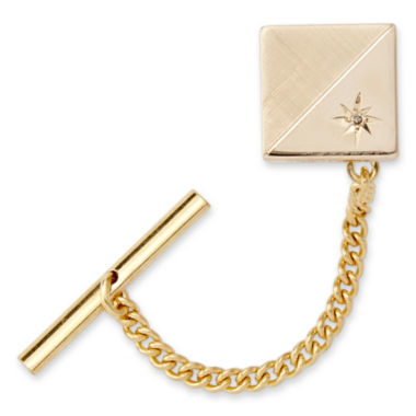 jcpenney.com | Tie Tack with Contrasting Finish and Diamond Accent