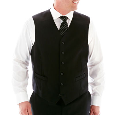 Stafford® Super 100 Black Stripe Suit Vest–Big & Tall