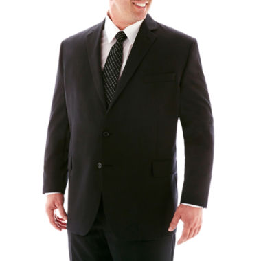 jcpenney.com | Stafford® Super 100 Black Stripe Suit Separates Jacket–Big & Tall