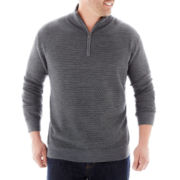 Claiborne® Quarter-Zip Sweater–Big & Tall