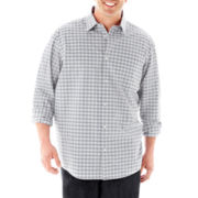 Claiborne® Long-Sleeve Woven Shirt–Big & Tall