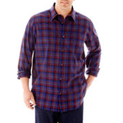 Claiborne® Long-Sleeve Woven Shirt-Big & Tall