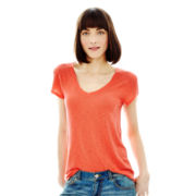 Joe Fresh™ Short-Sleeve V-Neck Slouch Tee