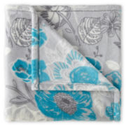 JCPenney Home™ Velvet Plush Floral Print Throw