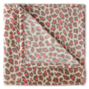JCPenney Home™ Velvet Plush Leopard Print Throw