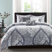 Madison Park Marcella Contemporary 6-pc. Duvet Cover Set