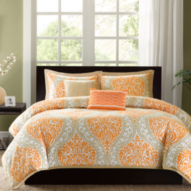 jcpenney.com | Intelligent Design Sabrina Damask Duvet Cover Set