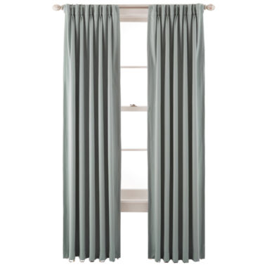 jcpenney.com | Liz Claiborne® Kathryn Room-Darkening Pinch-Pleat/Back-Tab Curtain Panel