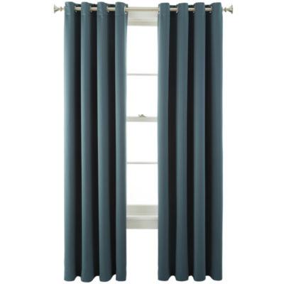 Liz Claiborne® Kathryn Grommet-Top Room-Darkening Curtain Panel
