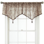 Royal Velvet® Opus Rod-Pocket Sheer Ascot Valance