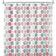 Home Expressions™ Textured Dot Shower Curtain