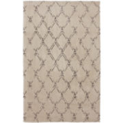 American Rug Craftsmen Faded Lattice Shag Rectangular Rug
