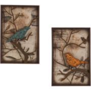 Butterflies & Birds Set of 2 Wall Art