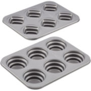 Cake Boss™ 2-pc. Stacked Nonstick Cakelette Pan Set - Round and Square