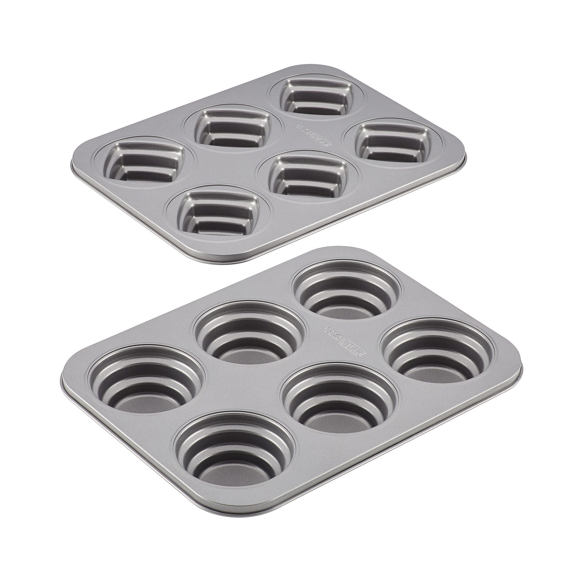 Cake Boss™ 2-pc. Stacked Nonstick Cakelette Pan Set - Round and Square -  55253