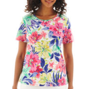Alfred Dunner® St. Tropez Short-Sleeve Tropical Top