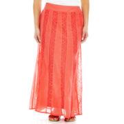 St. John's Bay® Crinkle Peasant Skirt - Petite