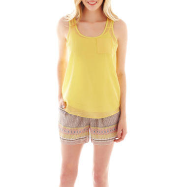 jcpenney.com | a.n.a® Textured Tank Top, Cami or Beach Shorts