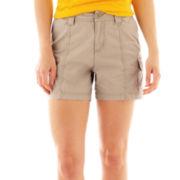 St. John's Bay® Utility Cargo Shorts - Petite