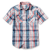 Arizona Plaid Western Woven Shirt - Boys 6-18