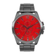 Mens Round Case Bracelet Watch