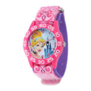 Disney Cinderella Kids Time Teacher Pink Nylon Fast Strap Watch