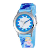 Disney Cinderella Kids Time Teacher Blue Fabric Strap Watch