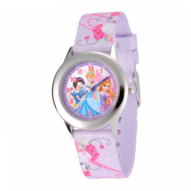 jcpenney.com | Disney Princess Kids Time Teacher Purple Fabric Strap Watch