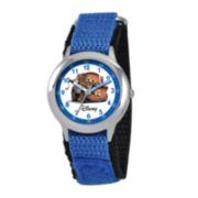 Disney Cars Kids Time Teacher Blue Nylon Strap Watch