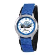 Disney Cars Kids Time Teacher Blue Nylon Strap Watch